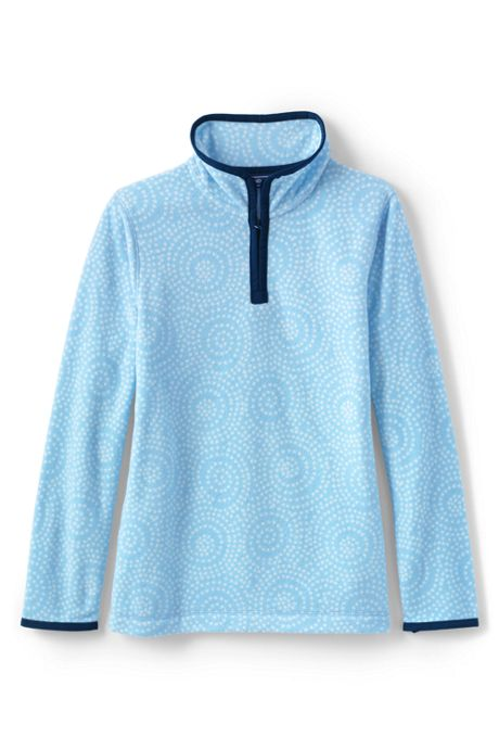 Girls Quarter Zip Fleece Pullover