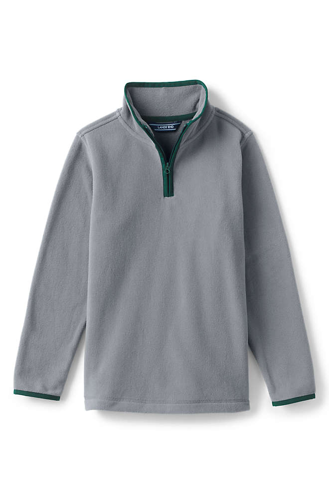 Little Boys Fleece Quarter Zip Pullover Sweater, Front