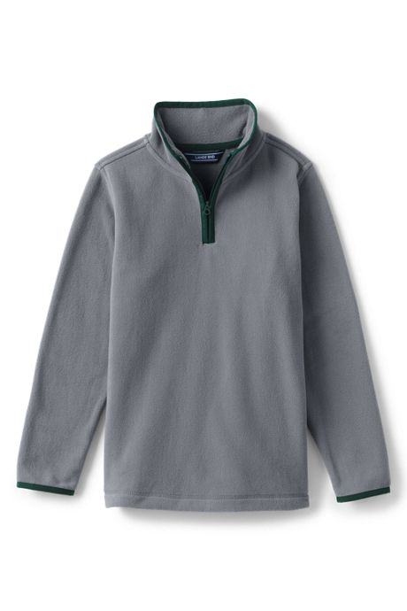 Toddler Boys Fleece Quarter Zip Pullover Sweater