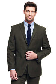 Men's Traditional Fit Wool Flannel Suit Jacket