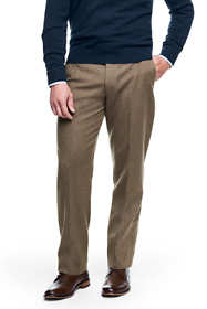 Men's Traditional Fit Wool Flannel Trousers