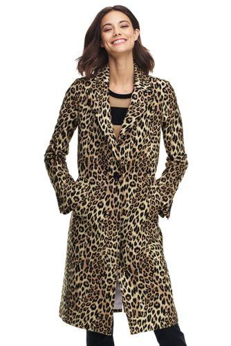 für End Mantel mit Jacquard Leoparden DamenLands' MVSUzpq