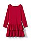 Grafik-Jerseykleid mit Rüschenrock für kleine Mädchen