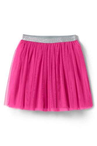 Lands' End Girls' Soft Tulle Skirt - 8-9 years, Pink thumbnail