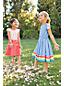 Gemustertes Kleid aus Baumwollsatin für große Mädchen