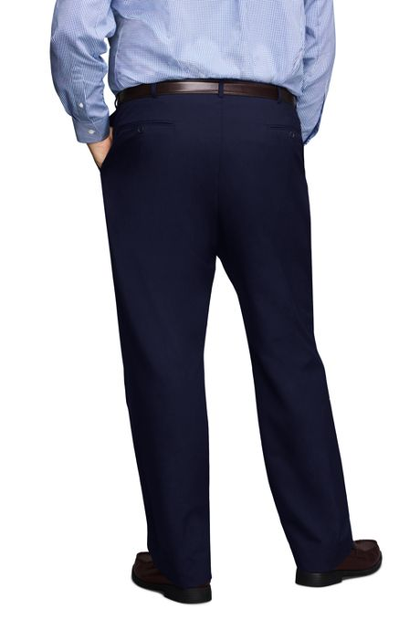 Men's Big and Tall Traditional Fit Year'rounder Wool Dress Pants