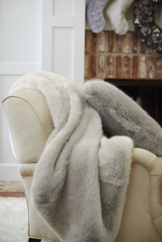 Silver Fox Faux Fur Cushion