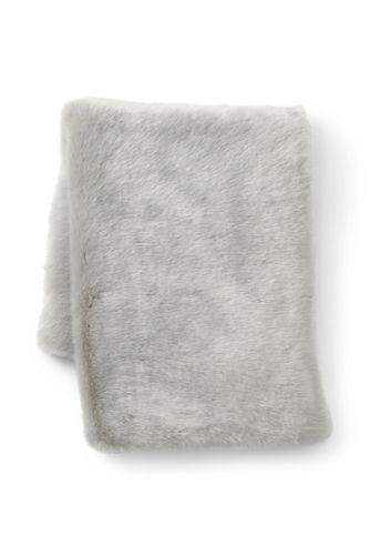 Silver Fox Faux Fur Throw