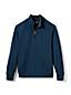 Zipper-Pullover aus Bedford-Ripp mit Teddyfleece-Kragen für Herren