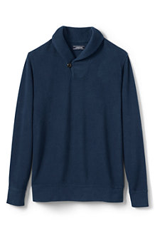 Men's Shawl Collar Brushed Rib Pullover