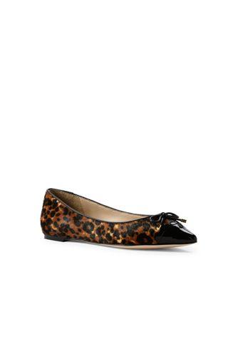 Women's Pointed Leopard Print Ballet Pumps