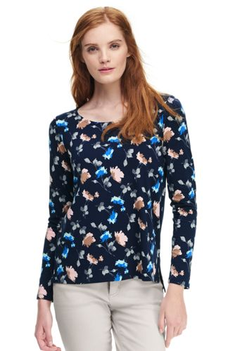Women's Floral Cotton/Modal Top