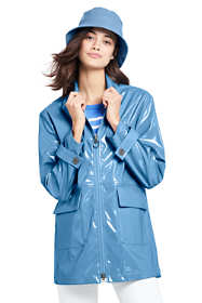 Women's High Shine Raincoat