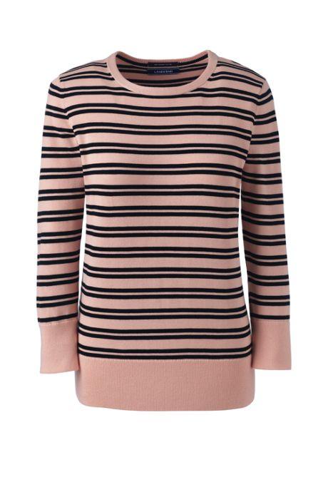 Women's Plus Size Supima Cotton 3/4 Sleeve Sweater
