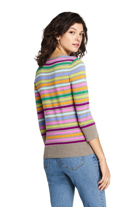 Women's Tall Supima Cotton 3/4 Sleeve Sweater