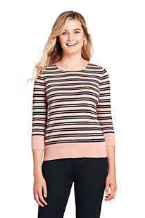 Women's Tall Supima Cotton 3/4 Sleeve Sweater, Front
