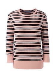 Women's Tall Supima Cotton 3/4 Sleeve Sweater