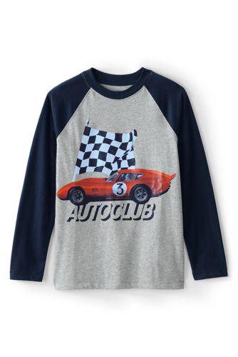 Grafik-T-Shirt mit Auto-Printmotiv für große Jungen