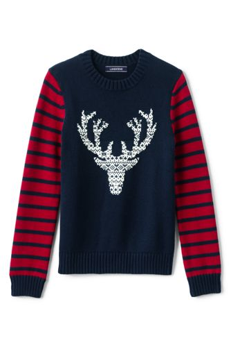 Little Boys' Deer Pattern Cotton Jumper