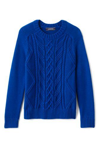 Drifter-Pullover mit Zopfmuster für kleine Jungen