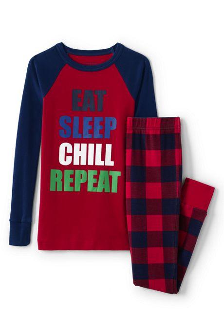 Boys Raglan Sleeve Snug Fit PJ Set