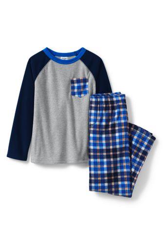 Boys' Chest Pocket Fleece Pyjama Set