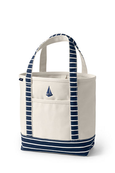 Medium Open Top Canvas Tote Bag Lands End QCnmdfCqy