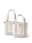 Medium Print Handle Canvas Tote Bag