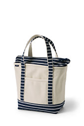 All-over Printed Medium Zip Top Tote Bag - WHITE Lands End