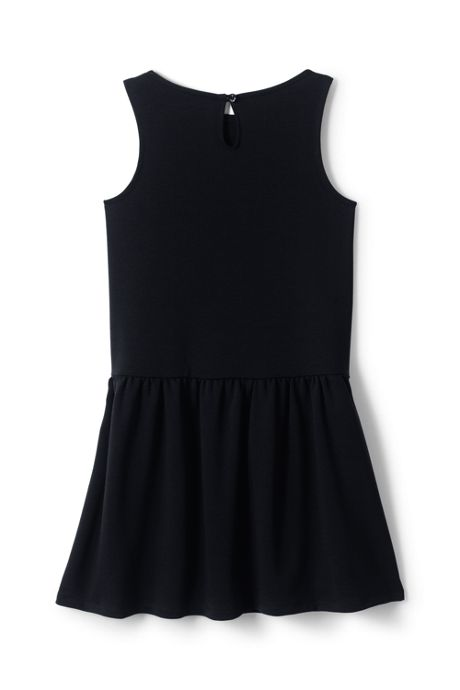 Girls Drop Waist Ponte Dress