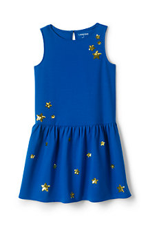 Girls' Drop Waist Ponte Jersey Dress