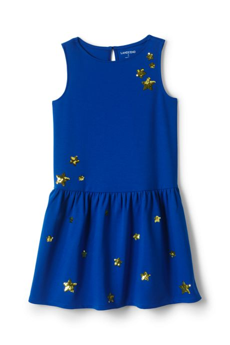 Girls Drop Waist Ponte Dress