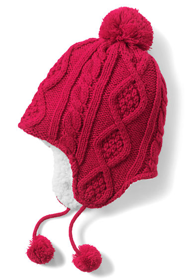 045890a1890 Girls Holiday Texture Knit Peruvian from Lands  End