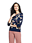 Le Pull Fines Mailles Double Jacquard Manches 3/4, Femme Stature Standard