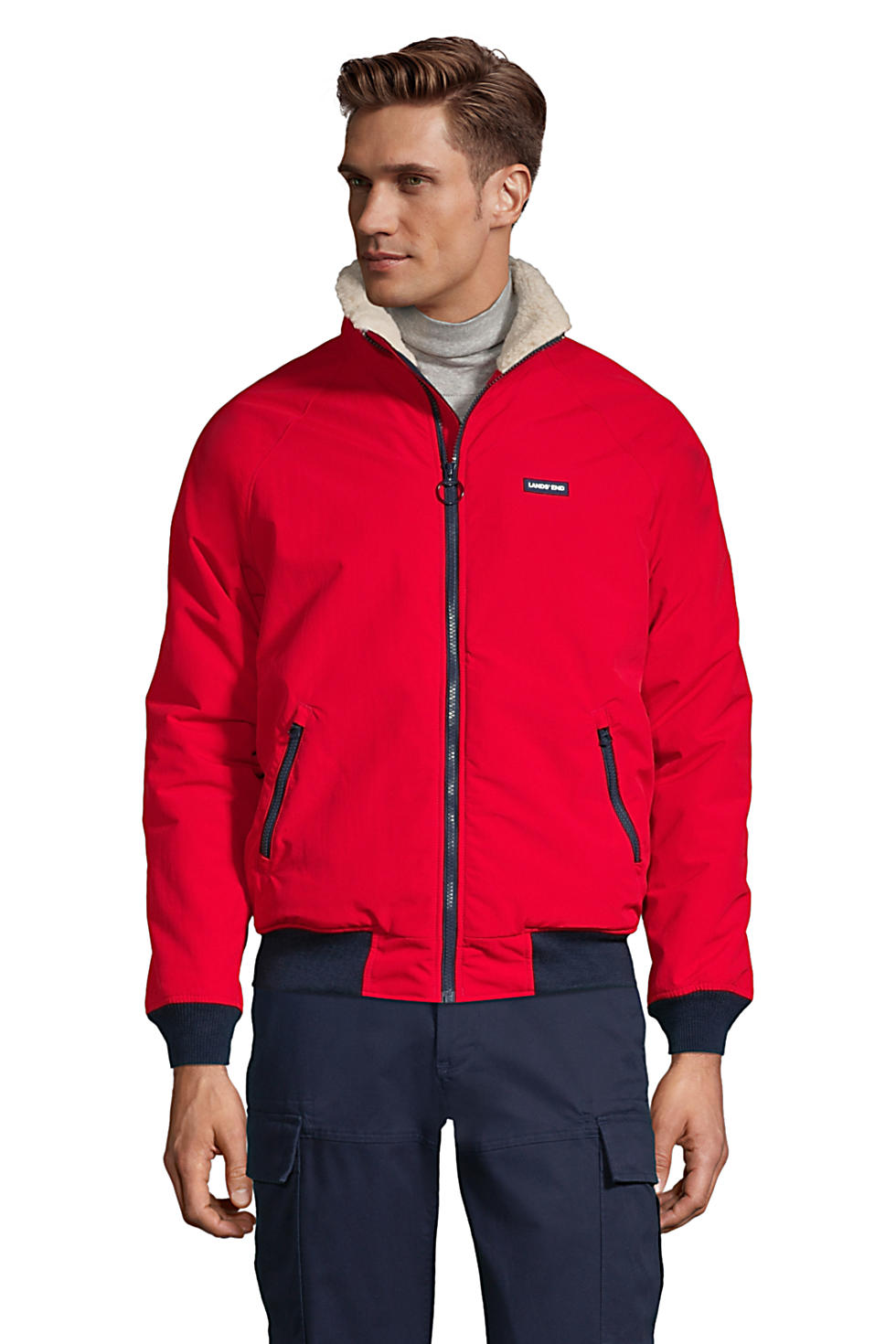 Lands' End Men's Sherpa-Lined Classic Squall Jacket