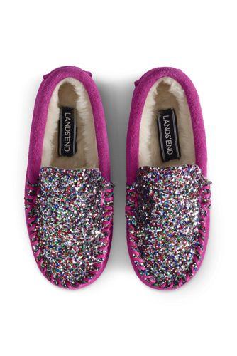 Kids' Embellished Moccasin Slippers