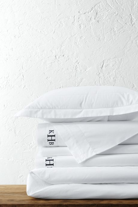 300 Supima Solid Border Duvet Cover