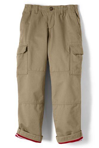 boys husky iron knee lined pull on cargo pants