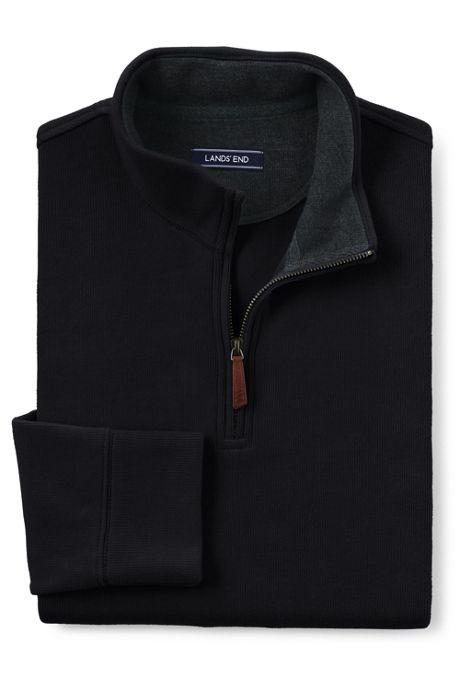 Men's Tailored Fit Bedford Rib Quarter Zip Sweater