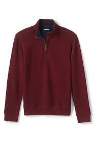 Men's Tailored Fit Bedford Rib Quarter Zip Mock Pullover