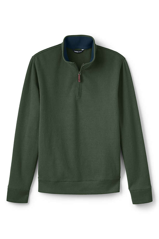 Men's Tailored Fit Bedford Rib Quarter Zip Sweater, Front