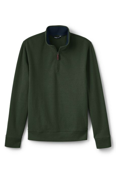 Men's Tailored Fit Bedford Rib Quarter Zip Sweater