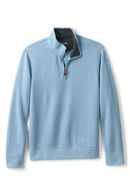 Men's Tailored Fit Bedford Rib Quarter Zip Mock Pullover