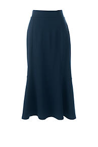 Womens Petite Ponte Jersey Midi Skirt - 10 12 - BLUE Lands End 100% Original Sale Online Clearance Shop For Cheap Price Fake YQBAW