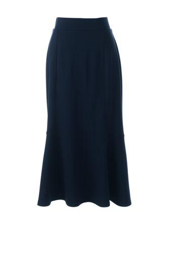 La Jupe Mi-Longue en Ponte, Femme Stature Standard