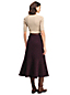 Women's Ponte Jersey Tweed Midi Skirt