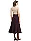 La Jupe Mi-Longue en Ponte Motif Tweed, Femme Stature Standard