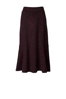 La Jupe Mi-Longue en Ponte Motif Tweed, Femme