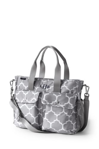 carryall print diaper bag from lands 39 end. Black Bedroom Furniture Sets. Home Design Ideas