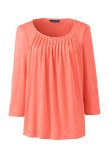Women's Cotton/Modal Pleated Front Top